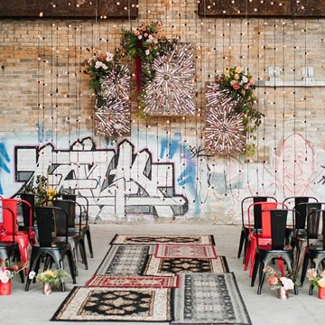 Love by Lynzie and Drake Catering Present: A Stunning Pop-Up Chapel at Evergreen Brick Works