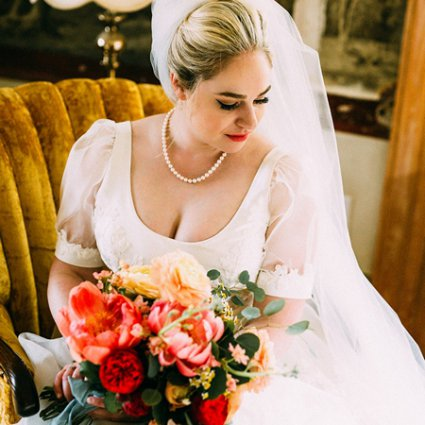 Bloom & Co. featured in Emily and Jeff's Stunning Willowbank Wedding