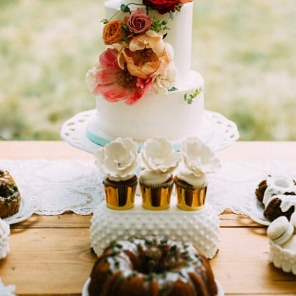 Sweet Celebrations featured in Emily and Jeff's Stunning Willowbank Wedding