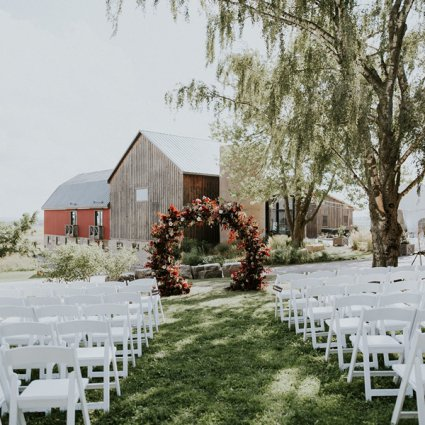 Lustre Events featured in Jemma and Red's Romantic Earth To Table Farm Wedding