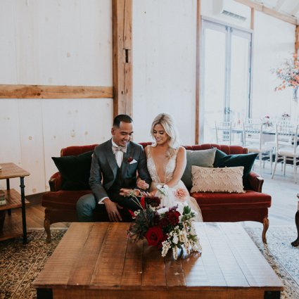 Tufts and Toile featured in Jemma and Red's Romantic Earth To Table Farm Wedding
