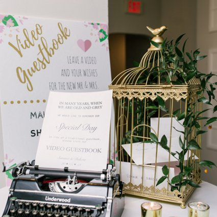 Southern Charm Vintage Rentals featured in Summer and Dakota's Romantic Wedding at LaSalle Banquet Centre