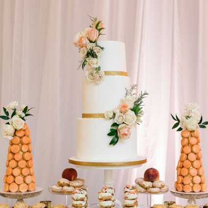 Fruitilicious Cakes featured in Summer and Dakota's Romantic Wedding at LaSalle Banquet Centre