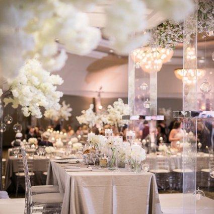 Around the Table featured in Samara & Eli's Classically Elegant Wedding at Bellvue Manor