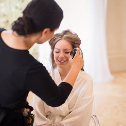 Beauty of Makeup featured in Samara & Eli's Classically Elegant Wedding at Bellvue Manor