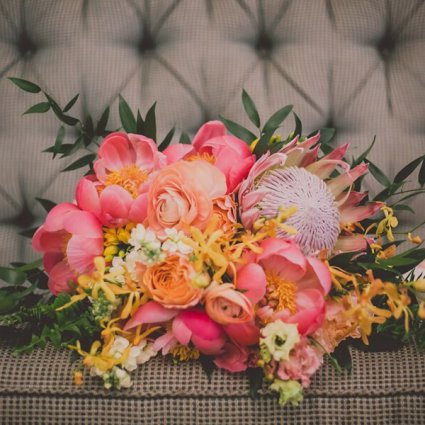 Coquette Studio Floral Design featured in Stephanie & Raymond's Whimsical Wedding at Toronto Hunt Club
