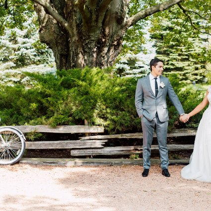 Thumbnail for Veronica and Daniel's Whimsical Vintage Garden Wedding at Bel…
