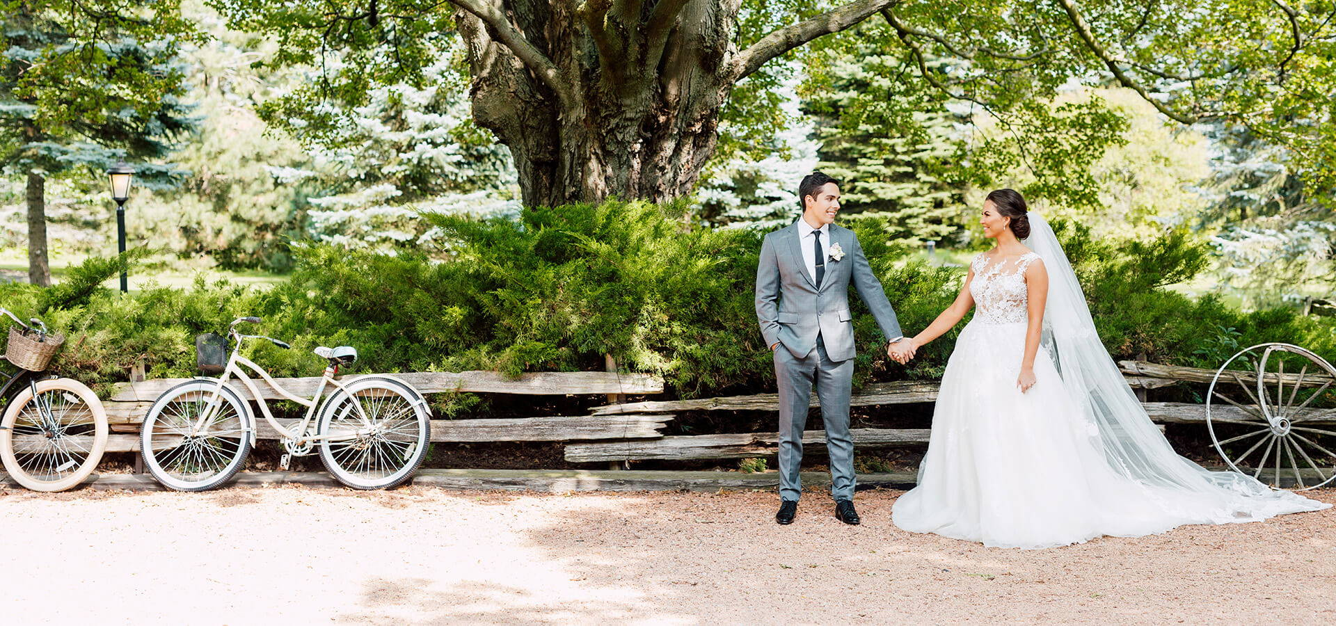 Hero image for Veronica and Daniel's Whimsical Vintage Garden Wedding at Belcroft Estates
