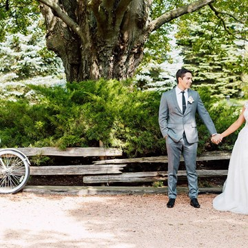 Veronica and Daniel's Whimsical Vintage Garden Wedding at Belcroft Estates