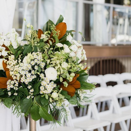 Wildflowers & Company featured in Eden and Les' Beautiful Palais Royale Wedding