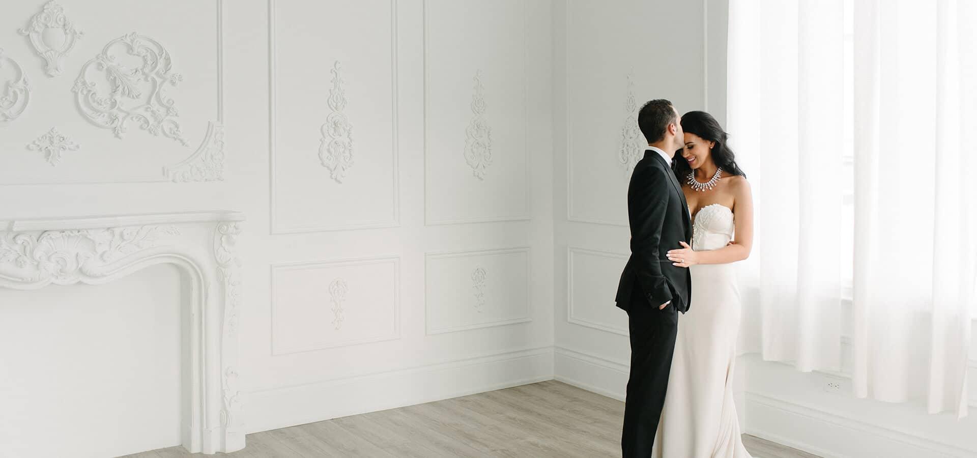 Hero image for Alexa & Nick's Elegant Wedding at Chateau Le Parc