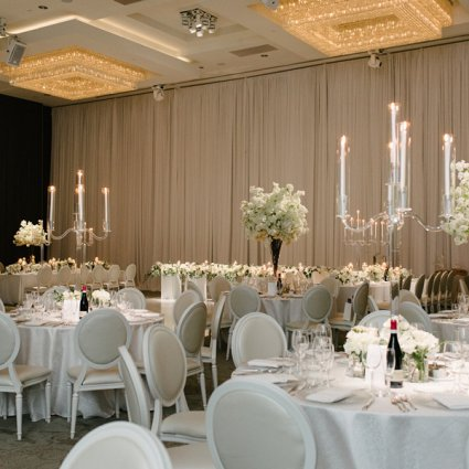 JOY by Janice featured in Alexa & Nick's Elegant Wedding at Chateau Le Parc