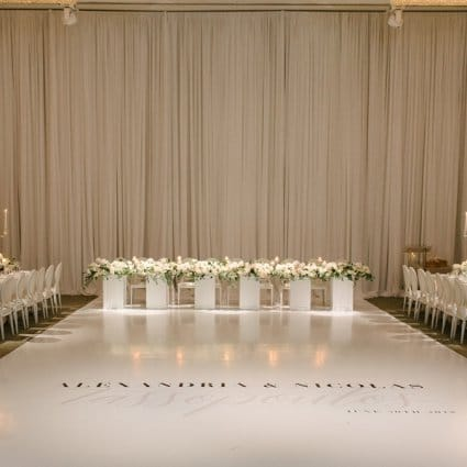 Axe Media Group featured in Alexa & Nick's Elegant Wedding at Chateau Le Parc