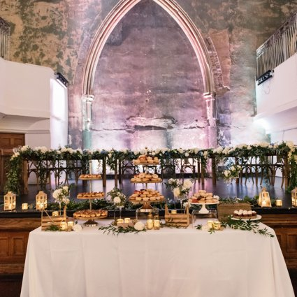 Bloomers featured in Frances and John Paul's Contemporary Rustic Berkeley Church W…