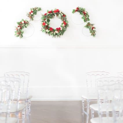 Wu La La Weddings & Events featured in A Marriage in a Pear Tree: A Beautiful Holiday Style Shoot