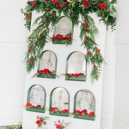 Love Lettering featured in A Marriage in a Pear Tree: A Beautiful Holiday Style Shoot