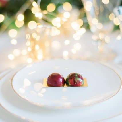 Succulent Chocolates featured in A Marriage in a Pear Tree: A Beautiful Holiday Style Shoot