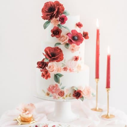 Joni and Cake featured in A Marriage in a Pear Tree: A Beautiful Holiday Style Shoot