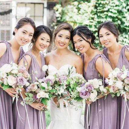 Parkette Floral Design featured in Natalie and Jason's Elegant Wedding at Paradise Banquet & Con…