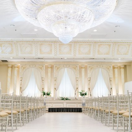 Paradise Banquet & Convention Centre featured in Natalie and Jason's Elegant Wedding at Paradise Banquet & Con…
