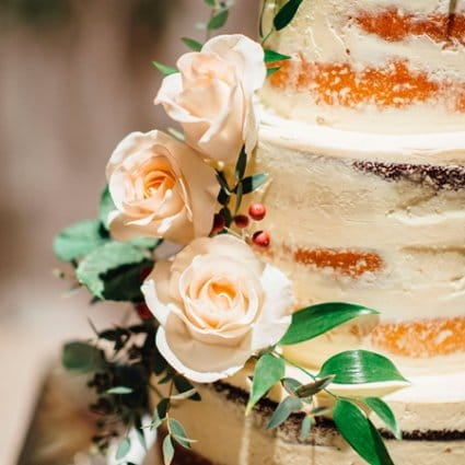 The Cocoa Cakery featured in Susan and Robert's Elegant Winter Wedding at Chateau Le Parc