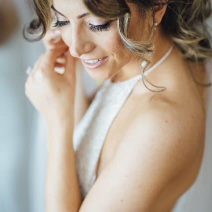 Makeup Artist Stefania featured in Susan and Robert's Elegant Winter Wedding at Chateau Le Parc