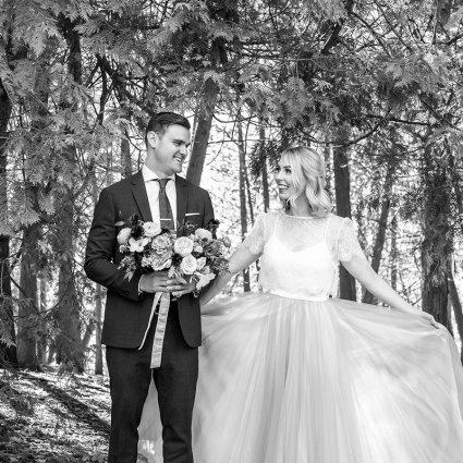 Casey Diehl Beauty featured in Alli and Jason's Sweet Elora Mill Wedding