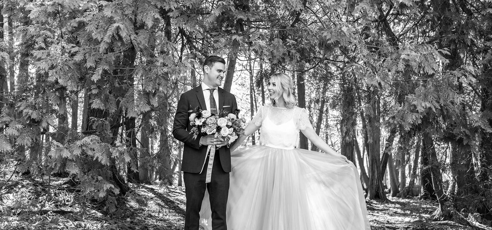 Hero image for Alli and Jason's Sweet Elora Mill Wedding
