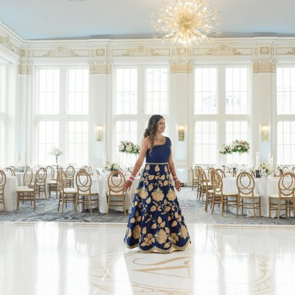 Dance Floor Decor featured in Sameer and Anu's Stunning Wedding at the Omni King Edward Hotel