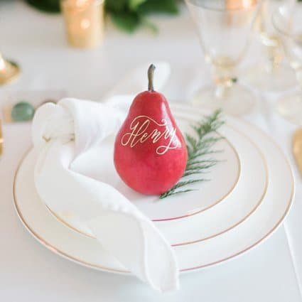 Thumbnail for A Marriage in a Pear Tree: A Beautiful Holiday Style Shoot