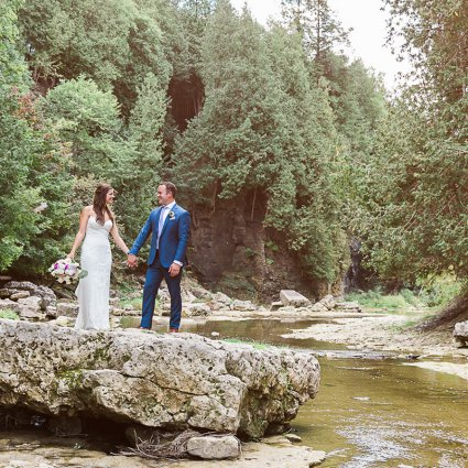 Thumbnail for Kate and Kyle's Stunning Elora Mill Wedding