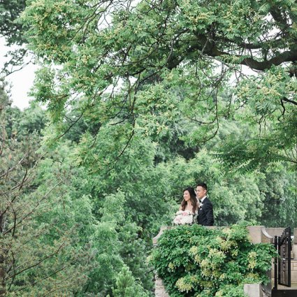 Casa Loma featured in Natalie and Jacky's Dream Wedding at Casa Loma and The Doctor…