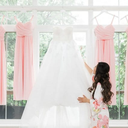Valencienne Bridal Design featured in Natalie and Jacky's Dream Wedding at Casa Loma and The Doctor…