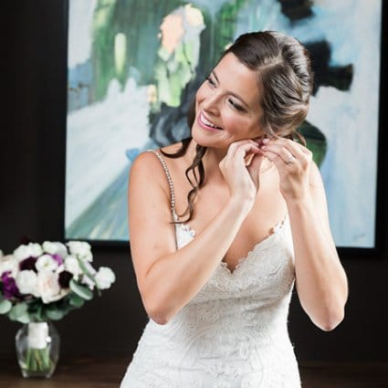 The Beauty Team featured in Kate and Kyle's Stunning Elora Mill Wedding
