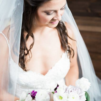 Becker's Bridal featured in Kate and Kyle's Stunning Elora Mill Wedding