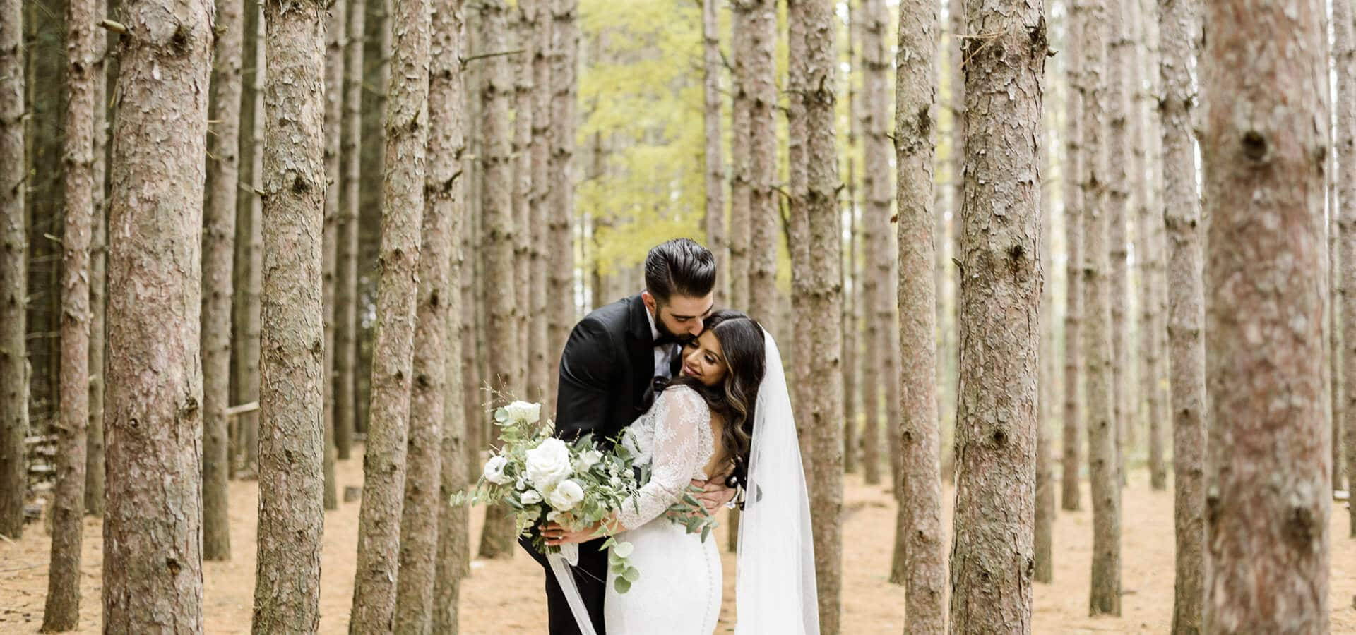 Hero image for Serena and Julian's Stunning Big Day at Chateau Le Parc