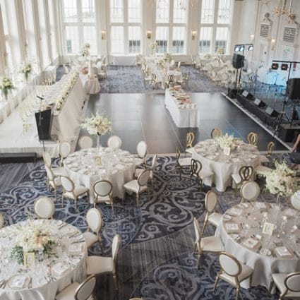 Have a Seat featured in Dana and Fraser's Sweetly Elegant Affair at The King Edward H…
