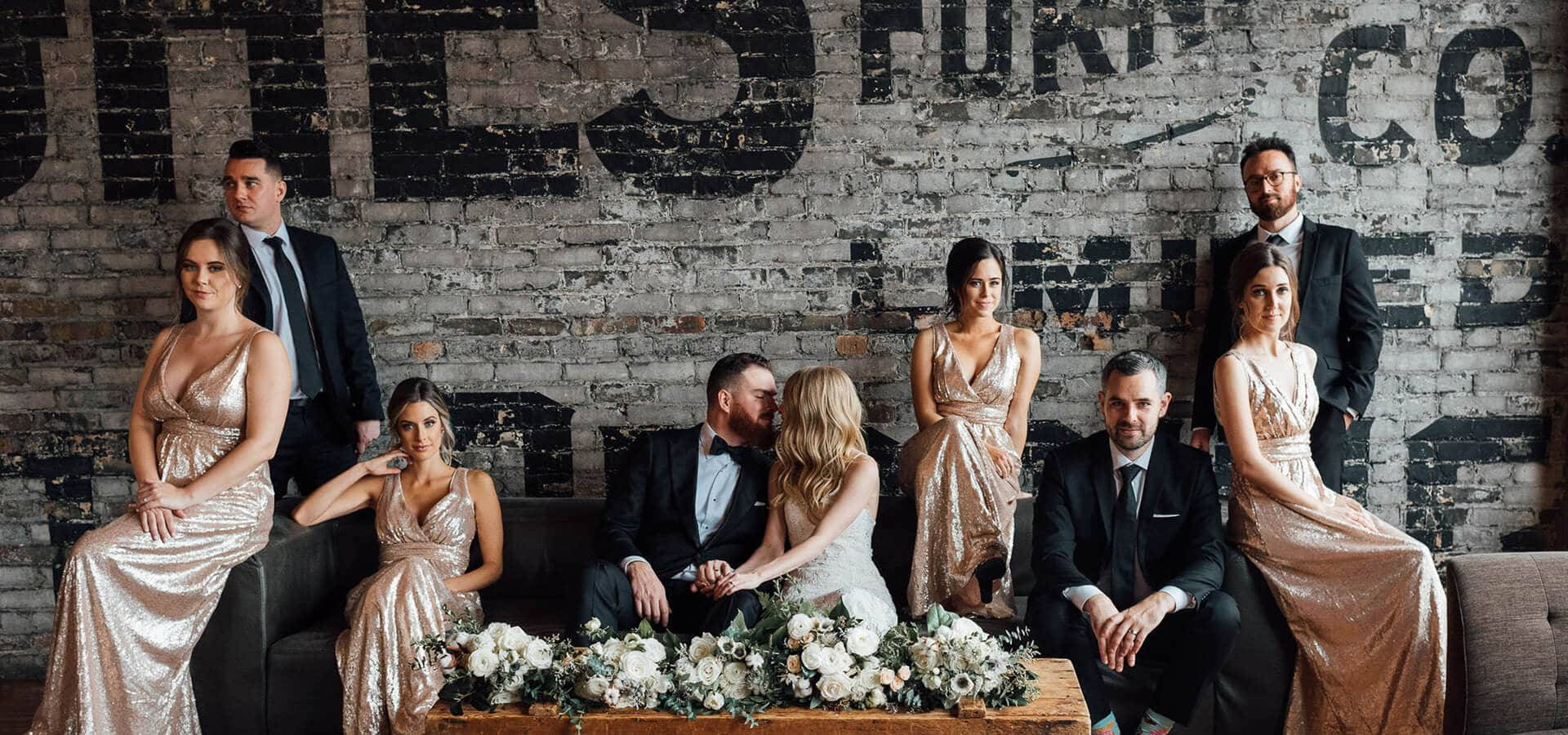 Hero image for Chantel and Adam's Elegant Brunch Wedding at the Burroughes