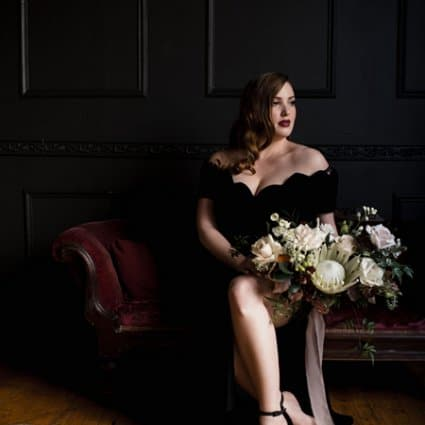 Contemporary Furniture Rentals featured in A Moody Styled Shoot at Queen West Studio