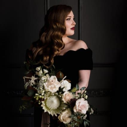 Bellwood Blooms featured in A Moody Styled Shoot at Queen West Studio