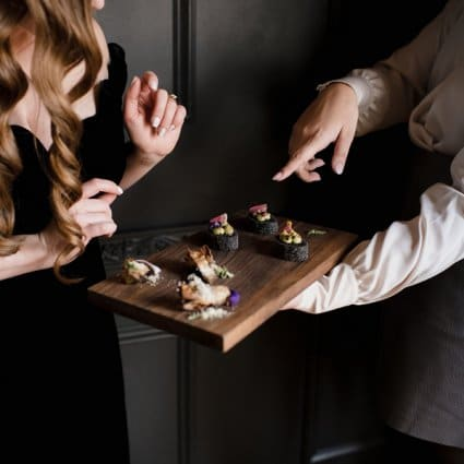 Gusto 54 Catering featured in A Moody Styled Shoot at Queen West Studio