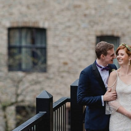 Patchouli Floral Design featured in Grace and Trevor's Boho-Luxe Wedding at Old Mill