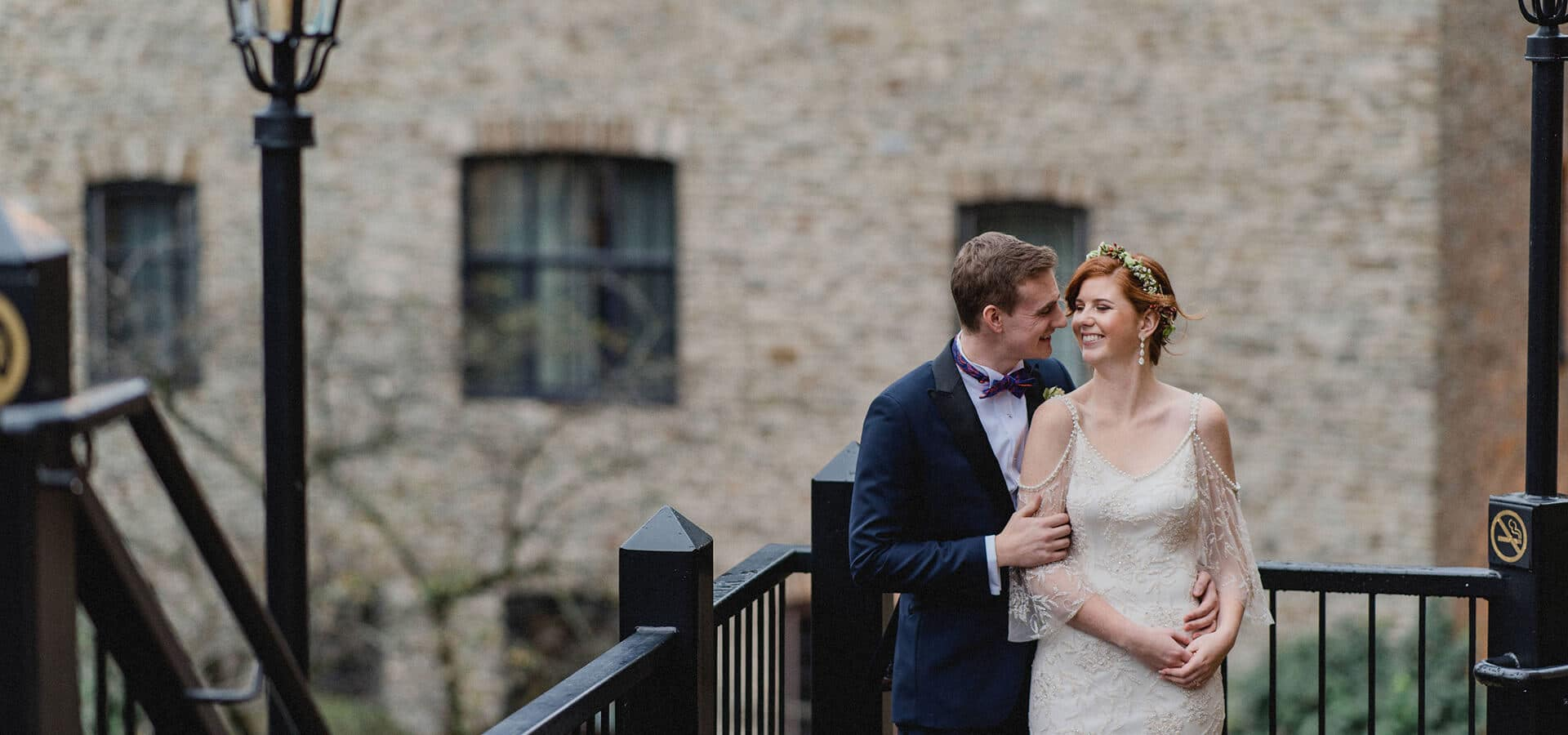 Hero image for Grace and Trevor's Boho-Luxe Wedding at Old Mill