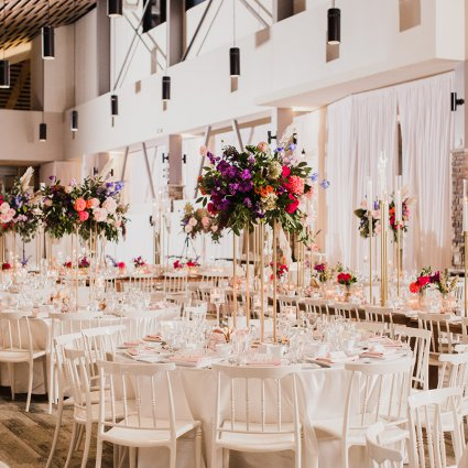 Luminous Weddings featured in Hayley and Jeff's Ultra Romantic Wedding at the Alpine Ski Club