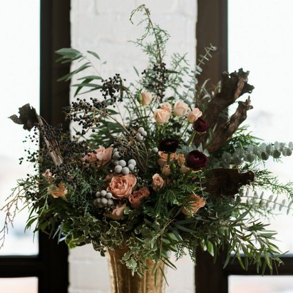 Stôk Floral & Design Inc. featured in Jovana & Gray's Romantic Big Day at the Burroughes Building