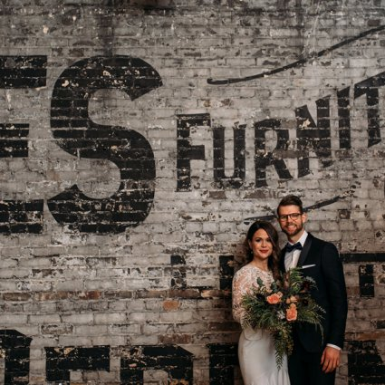 The Burroughes featured in Jovana & Gray's Romantic Big Day at the Burroughes Building