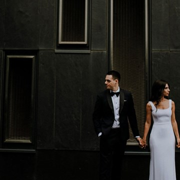 Jana and Jeremy's Modern-Chic Wedding at Ricarda's