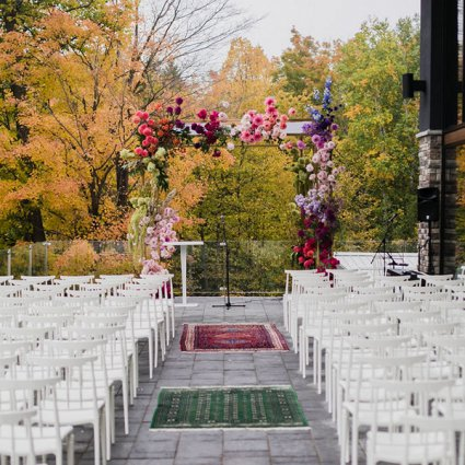 Fab Fête Event Planning Boutique featured in Hayley and Jeff's Ultra Romantic Wedding at the Alpine Ski Club