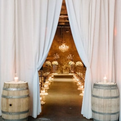 Fermenting Cellar featured in Amy and Ryan's Romantic Fermenting Cellar Wedding