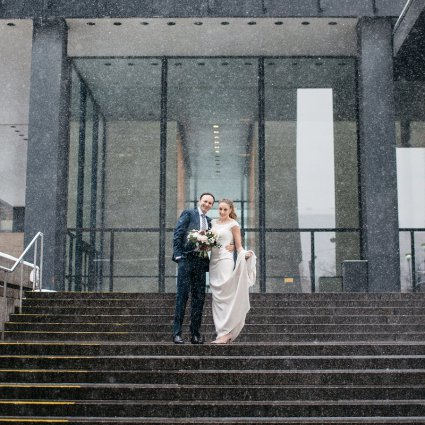 Thumbnail for Christine and Peter's Intimate Winter Wedding at Canoe